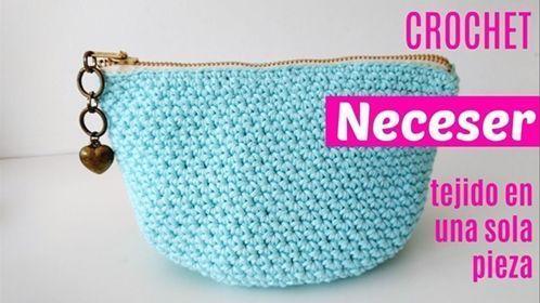 DIY neceser con cremallera a crochet