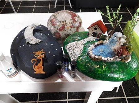 DIY para decorar piedras con diferentes técnicas