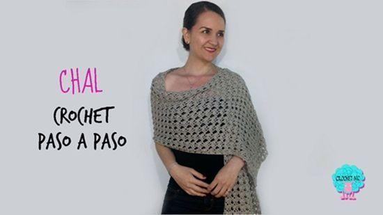 Tutorial para hacer un chal rectangular a  crochet
