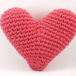 Patrón cojín corazón amigurimi