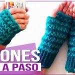 DIY mitones o guantes sin dedos a crochet