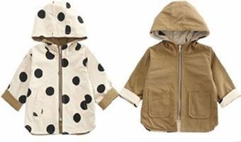 Chaqueta de doble cara con capucha para niños