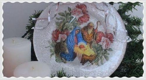 DIY técnicas decoupage para decorar en navidad