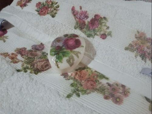 DIY para hacer decoupage en una toalla y jabón
