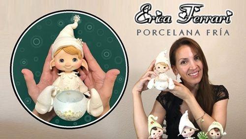 DIY duende de navidad de porcelana fría