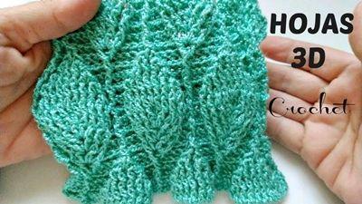 DIY punto de hoja 3D a crochet