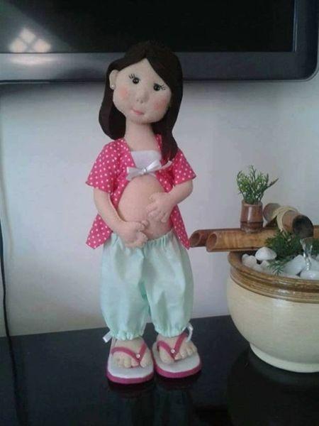 DIY+Moldes para hacer una muñeca embarazada en fieltro