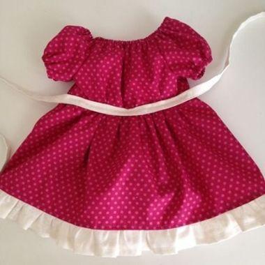 Patrón vestido con volantes para muñecas (2)