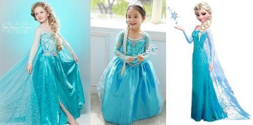 Patrón vestido Frozen para niña