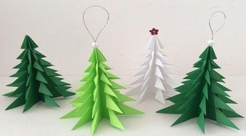 Cómo hacer un árbol de navidad con cartulina