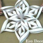 Cómo hacer copos de nieve 3D