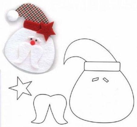 Moldes para hacer adornos navideños de fieltro (5)