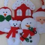 Moldes para hacer adornos navideños de fieltro