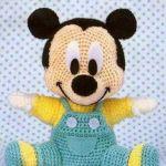 Baby Mickey amigurimi con patrón
