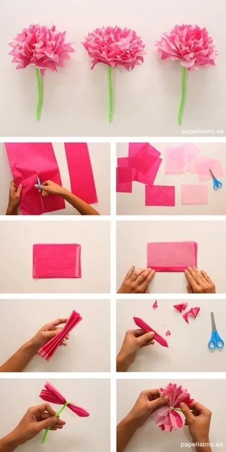 Flores de papel seda (2)
