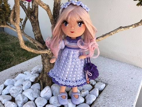 Muñeca Petus amigurimi tutorial completo