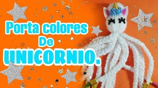Unicornio porta colores para niños