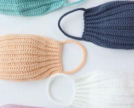 Mascarilla para la boca a crochet con patrón(2)