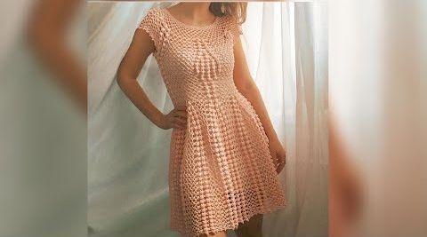 Vestido de primavera para mujer a crochet