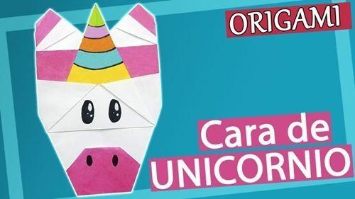 Cómo hacer una cara de unicornio en origami