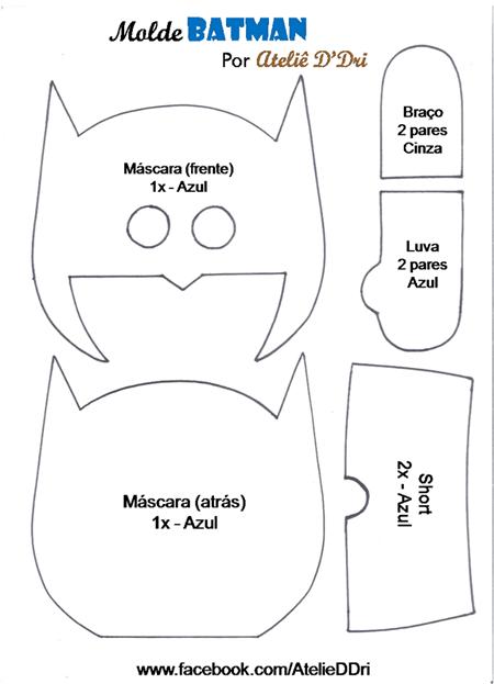 Batman de fieltro con moldes gratis (2)