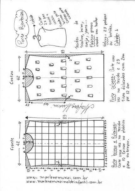 Molde para hacer un organizador de bisutería (molde)