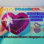 Caja para regalo corazón de foamy con moldes
