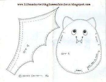 Moldes de fieltro para halloween (Molde 4)