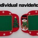 Diy+Moldes para hacer un mantel individual de navidad