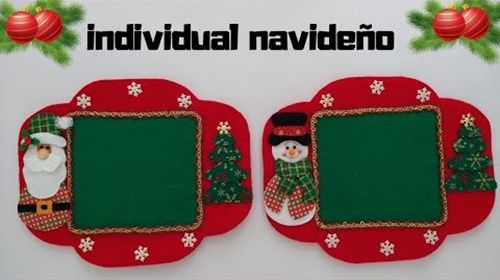Diy+Moldes para hacer un mantel individual de navidad (0)