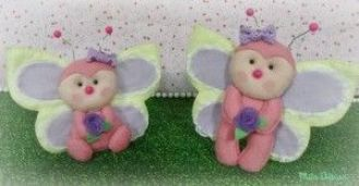 Moldes mariposa,mariquita o abeja en fieltro(6)