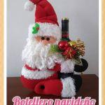 Papá Noel botellero navideño con moldes