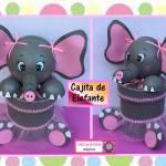 DIY con moldes para hacer una cajita elefante