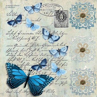 8 Láminas de mariposas para decoupage (3)