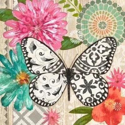 8 Láminas de mariposas para decoupage (4)