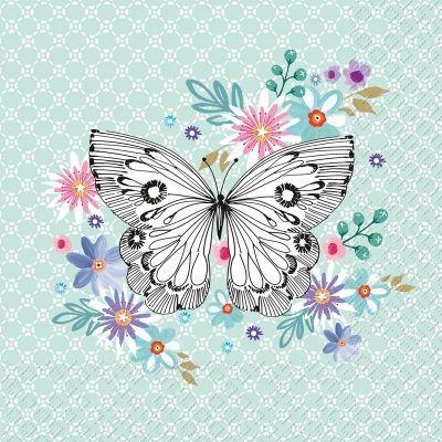 8 Láminas de mariposas para decoupage (6)