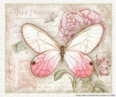 8 Láminas de mariposas para decoupage (2)