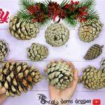 DIY adornos de navidad con piñas