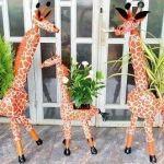 DIY maceta jirafa reciclando botellas de plástico