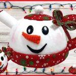 DIY+molde tetera de navidad de fieltro