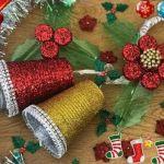 DIY Campanas de navidad con vasos de plástico