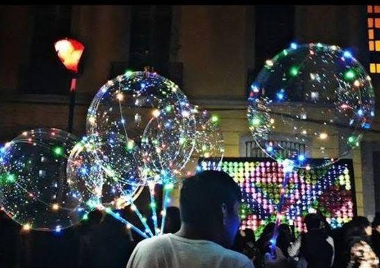 C贸mo hacer globos con luces LED