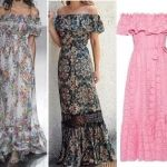 Patrón vestido largo gitano para mujer