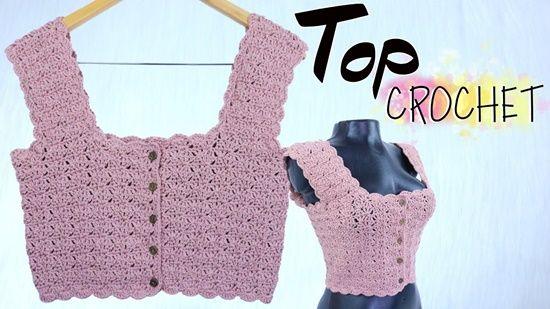 DIY Top a crochet de punto fantasía