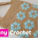 DIY Bolso a crochet con punto granny
