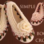 DIY zapatos a crochet con punto flores y rosas en 3D
