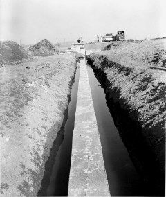 Footing for seawall construction 1-10-62
