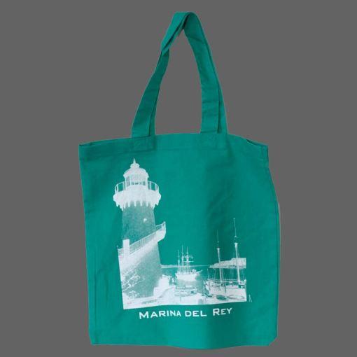 green tote bag