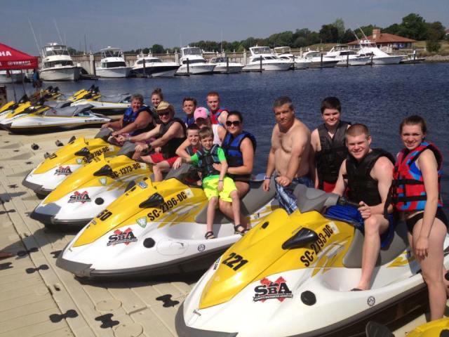 myrtle beach watersports, jetski rentals, boat rentals in myrtle beach, myrtle beach pontoon boat rentals, wedding party activities