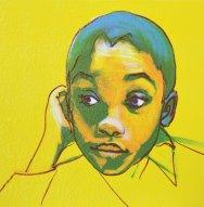 Matthew. Portrait commission in monotype Portrait artist Marina Kim